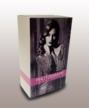 Luxury fragrance product box. Offset print, die cut