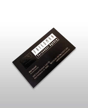 Custom business card - silver foil stamp.